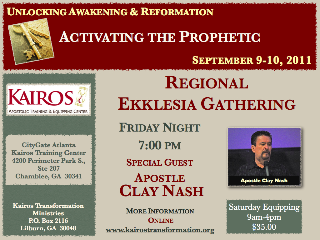 Calendar: : Regional Ekklesia Gathering with Clay Nash